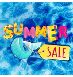 Fish sale vector image