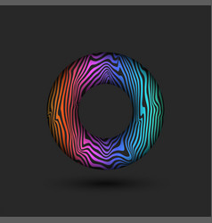 abstract donut logo with bright multicolored vector image