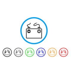 accumulator battery rounded icon vector image
