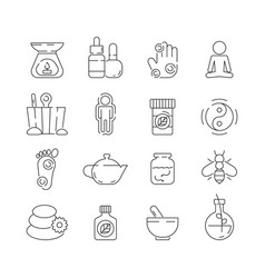 Alternative medicine icon beauty complementary vector
