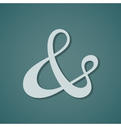 Ampersand vector image