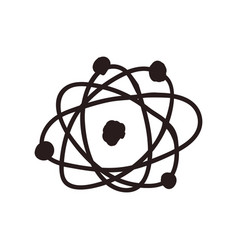 Atom doodle cartoon vector