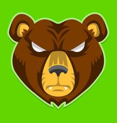 Bear face vector
