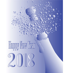 blue and white2018 bottle vector image