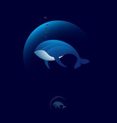 Blue whale logo vector