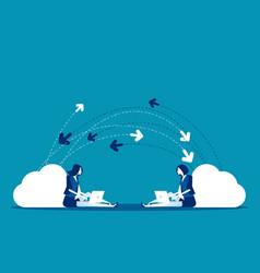 business send data message concept vector image