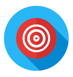 business target business goal flat icon modern vector image