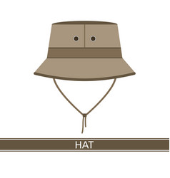 Camping hat icon vector