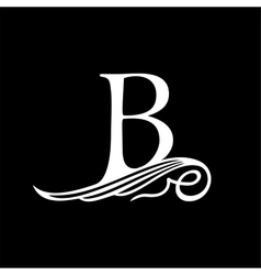 Capital Letter B for Monograms Emblems and Logos vector