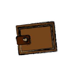 Cartoon wallet money concept safety bank icon vector