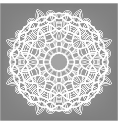 Christmas decorative lace ornament snowflake vector
