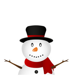 christmas snowman on a white background vector image