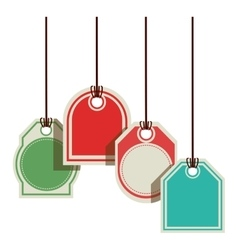 color prices tags with several shapes vector image