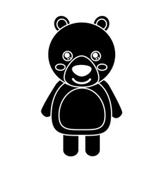 cute bear animal standing cartoon wildlife vector image