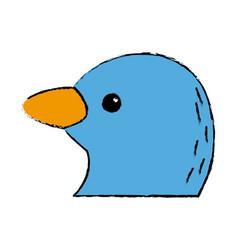 Cute bird exotic beak feather adorable icon vector