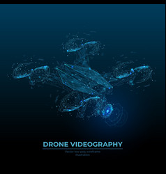 digital image drone videography concept vector image