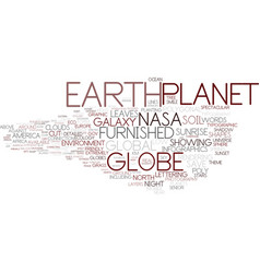 Earth word cloud concept vector
