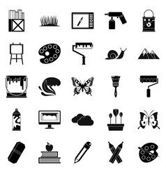 Eco activist icons set simple style vector