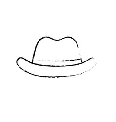 figure elegant hat to use in the head vector image