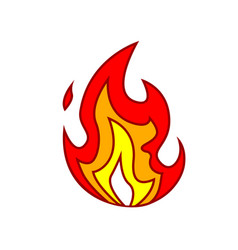 Fire small flame symbol isolated on a white vector