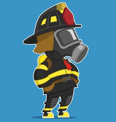 Firefighter stands vector