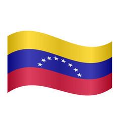 Flag of venezuela waving on white background vector