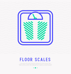 floor scales thin line icon vector image