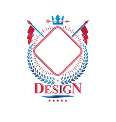 graphic insignia made with imperial crown vector image