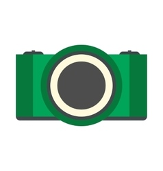 Green camera flat icon vector