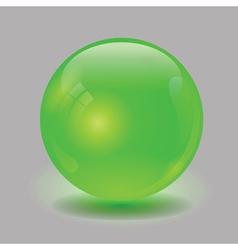 green glass sphere vector image