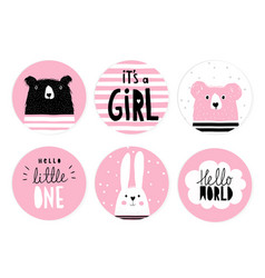 hand drawn candy bar baby shower tag set vector image