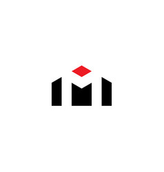 House letter m logo icon sign design element vector