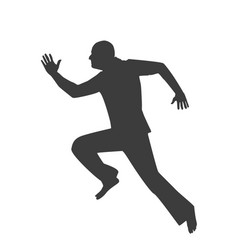 icon man running on a white background vector image