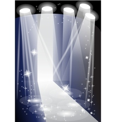 Illuminated catwalk vector