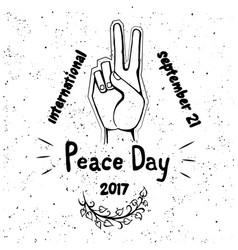 International peace day poster 21 september 2017 vector