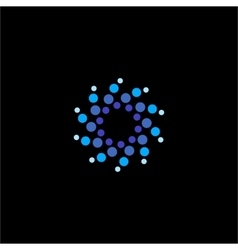 Isolated abstract blue color water bubbles vector image