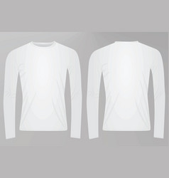 Long sleeved t shirt vector