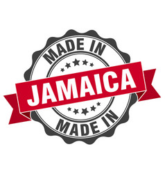 Made in jamaica round seal vector