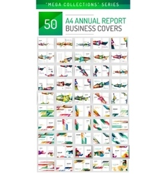 Mega collection of 100 business annual report vector image