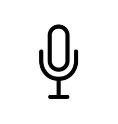 microphone thin line icon set on white background vector image
