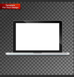 modern glossy laptop isolated vector image