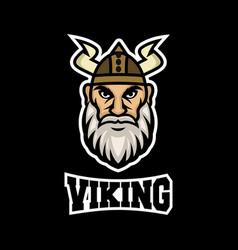 Modern mascot viking logo vector