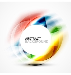 Modern shiny blurred swirl template vector