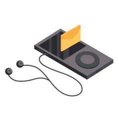 Music player isometric vector