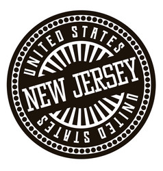 new jersey black and white badge vector image