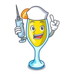 Nurse mimosa character cartoon style vector