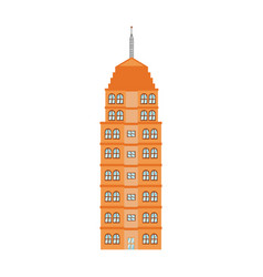orange building tower urban architecture vector image