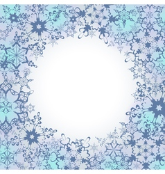 Ornamental winter frame with ornate snowflakes vector