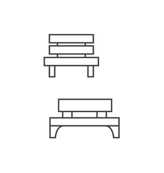 park bench thin line icon concept park bench vector image