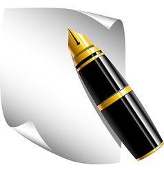 Pen and a notepad vector image